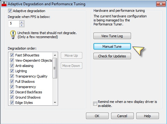 RE: How To Enable Hardware Acceleration in AutoCad?
