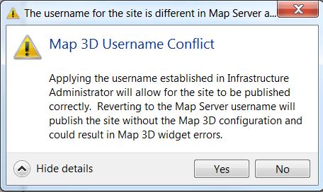 RE: Map3D: Error message - Map 3D Username Conflict
