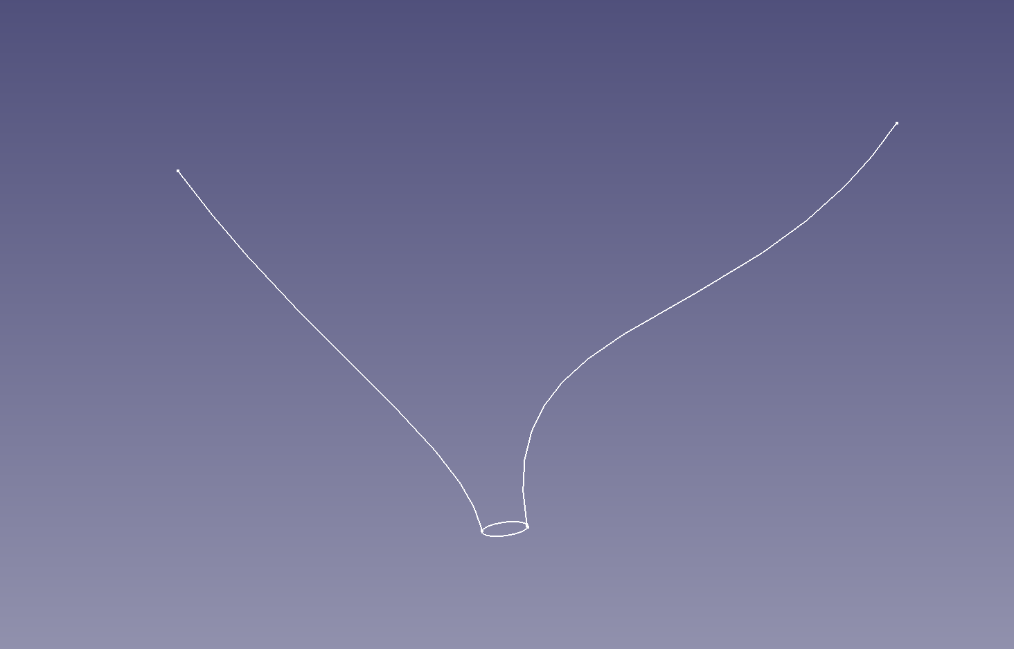 Generate solid by sweeping ellipse bounded by two curves upward
